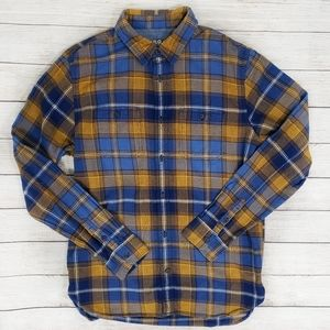 Gap 1969 Blue and Orange Button Up Flannel